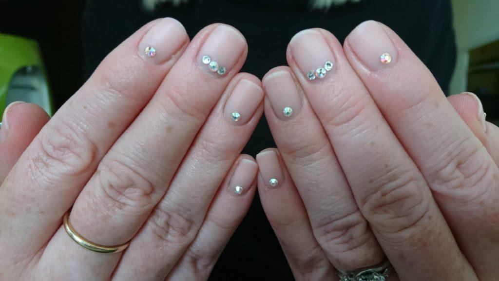 Gelish Natural Nails Crystals Cover Pink