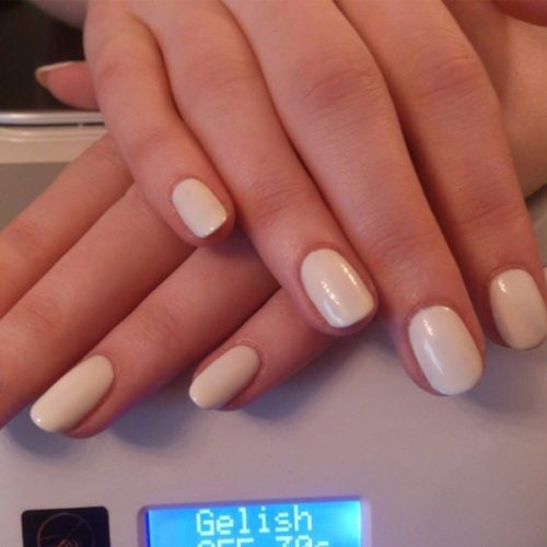 Gelish classic Gel manicure neutral Pale Pink